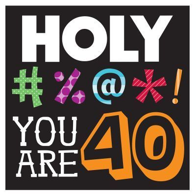 Funny 40th Birthday Clipart | cute quotes | 40th birthday parties ... png free stock