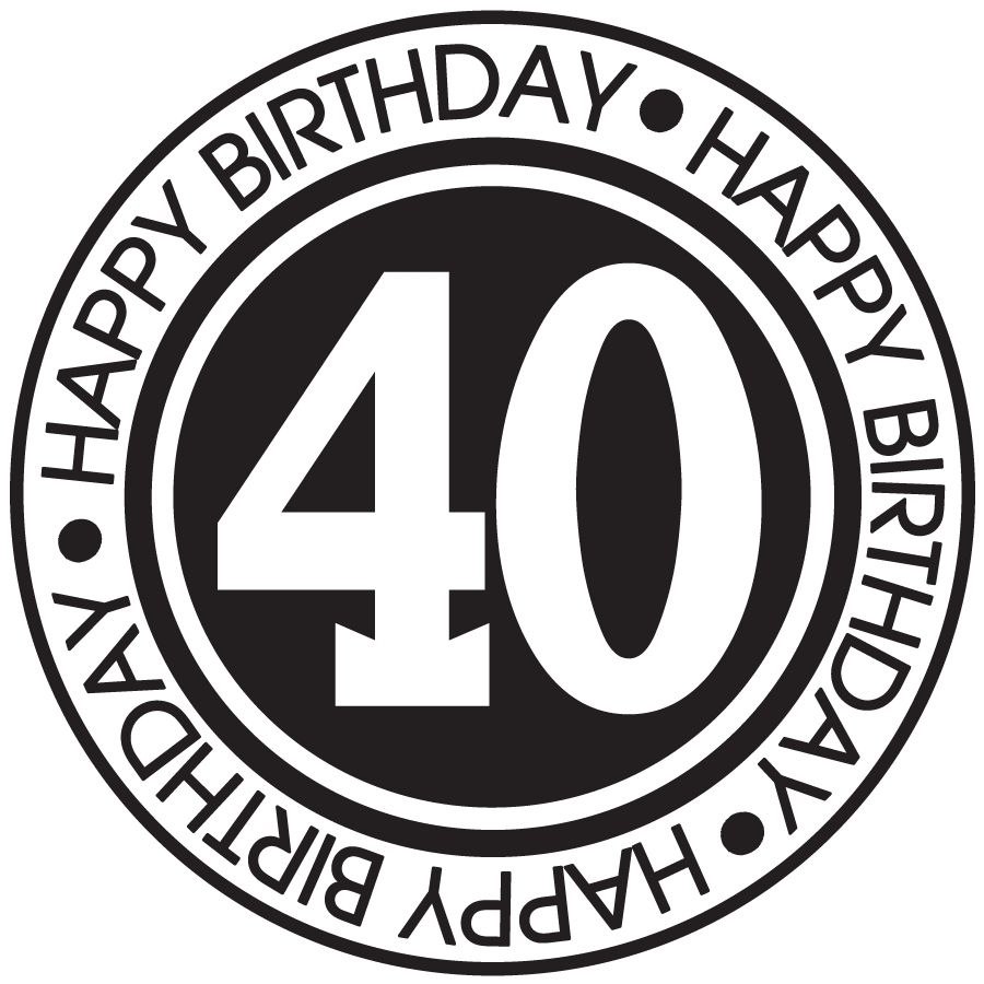 Happy 40th birthday clipart free 7 » Clipart Station jpg free