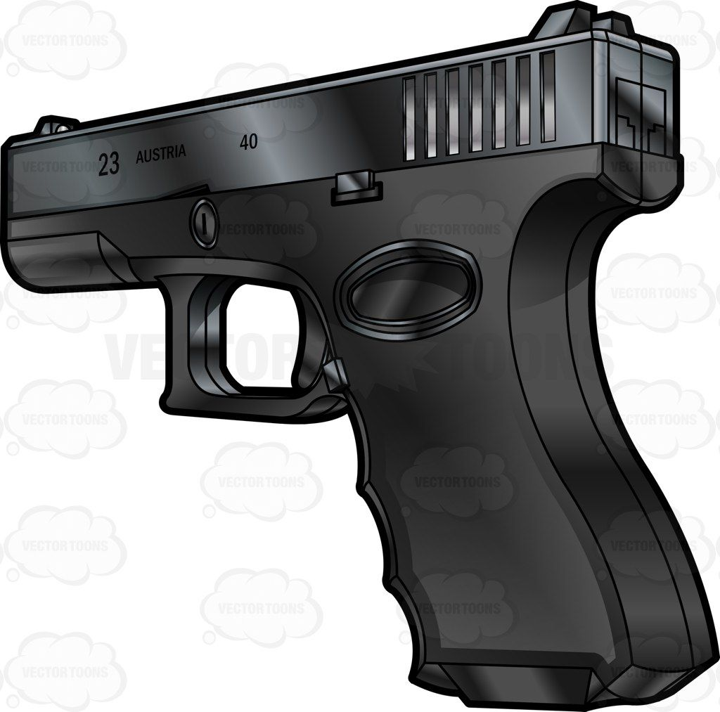 40 glock bullet clipart picture Rear Side View Of A Glock Semi Automatic Short Recoil Pistol #.40 ... picture