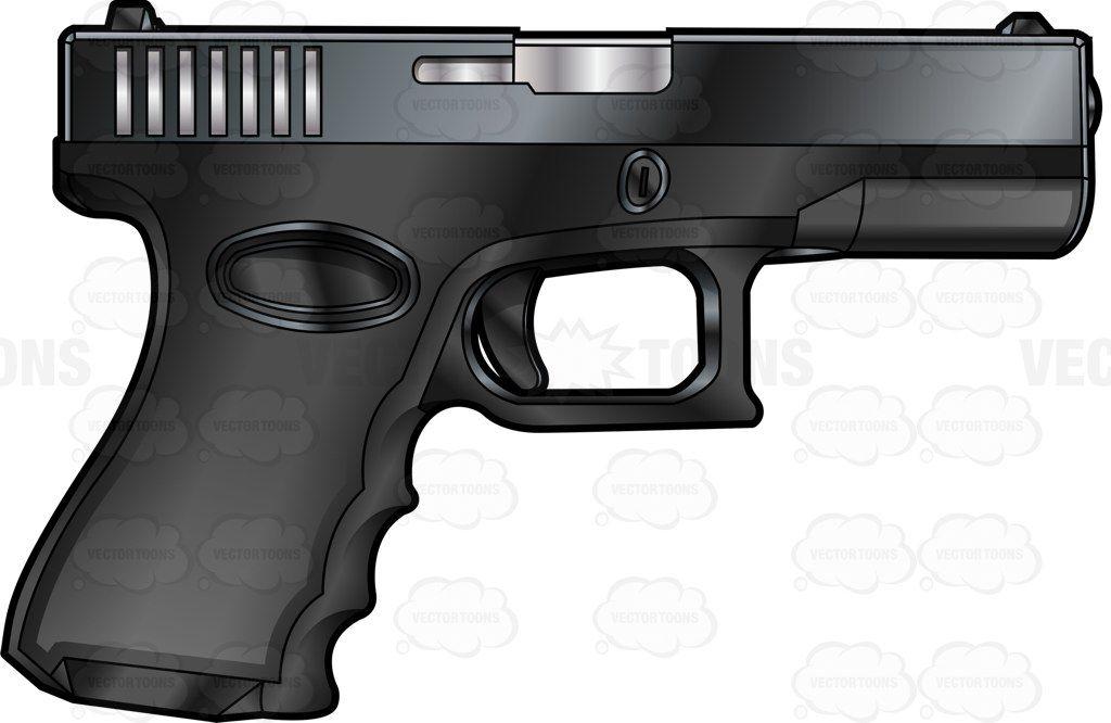 40 glock bullet clipart image transparent Side Profile Of A Glock Semi Automatic Short Recoil Pistol #.40 #23 ... image transparent