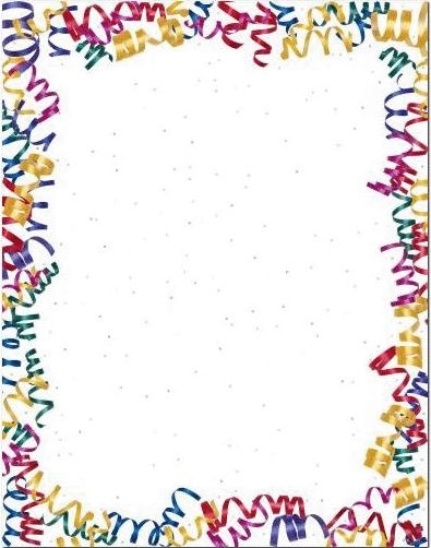 40th birthday clipart borders