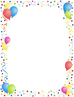 40th birthday clipart borders banner library download Party Border   Fonts - Borders -Clip Art   Page borders, Borders ... banner library download