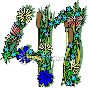 41 clipart jpg transparent library Number 41 Made Of Flowers - Royalty Free Clipart Picture jpg transparent library