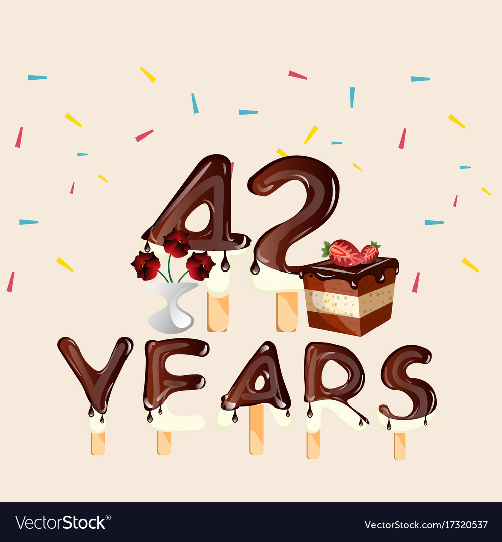 42 years happy birthday card picture black and white download
