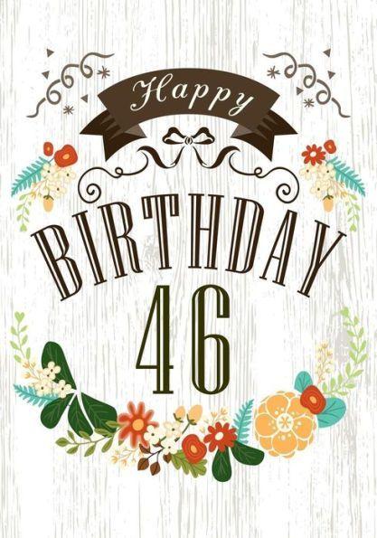 Happy Birthday 46: Birthday Books For Women, Birthday Journal ... clip art transparent library