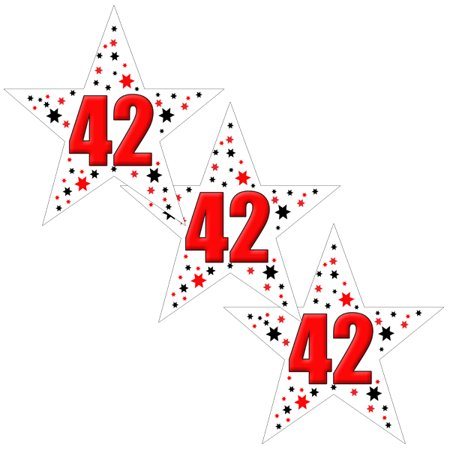 42ND BIRTHDAY STAR DECO FETTI (24 PIECES/PKG) by Partypro image royalty free download