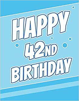 Happy 42nd Birthday: Discreet Internet Website Password Journal or ... clipart free stock