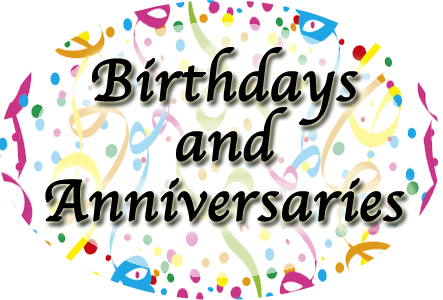 43rd pastor anniversary clipart graphic free stock Birthdays-Anniversaries graphic free stock