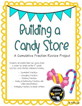 45 50 fraction clipart png stock Fraction Review Project - Building a Candy Store | | 4th Grade ... png stock
