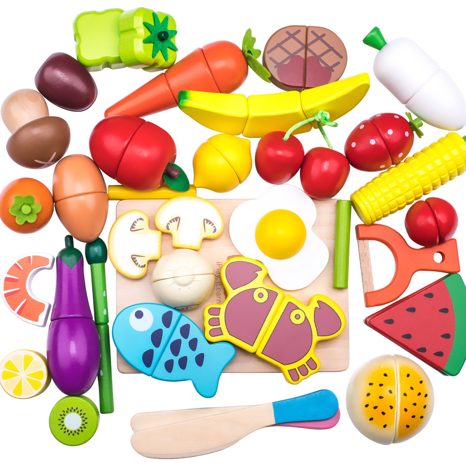 4-5 nutrition toys clipart clip art library download Wooden Cutting Cooking Food Sets, Pretend Play Kitchen Kits Toy, Magnetic  Wood Vegetables Fruits, Early Development, Learning, Birthday Gifts for  Ages ... clip art library download