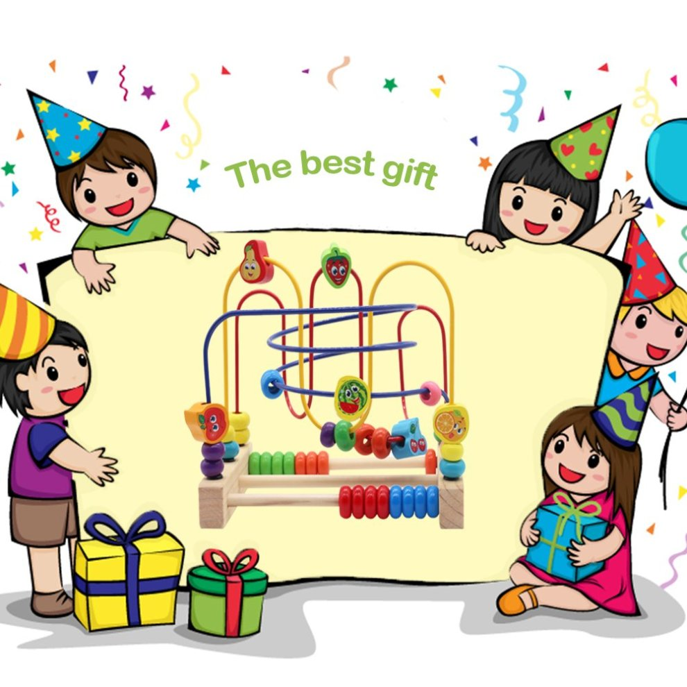 4-5 nutrition toys clipart svg freeuse download Nuheby Wooden Toys Bead Maze 6 Fruit Beads with 3 Roller Coaster Wooden  Beads Educational Toys for Boys Girls Kids Gift 3 4 5 Years Old svg freeuse download