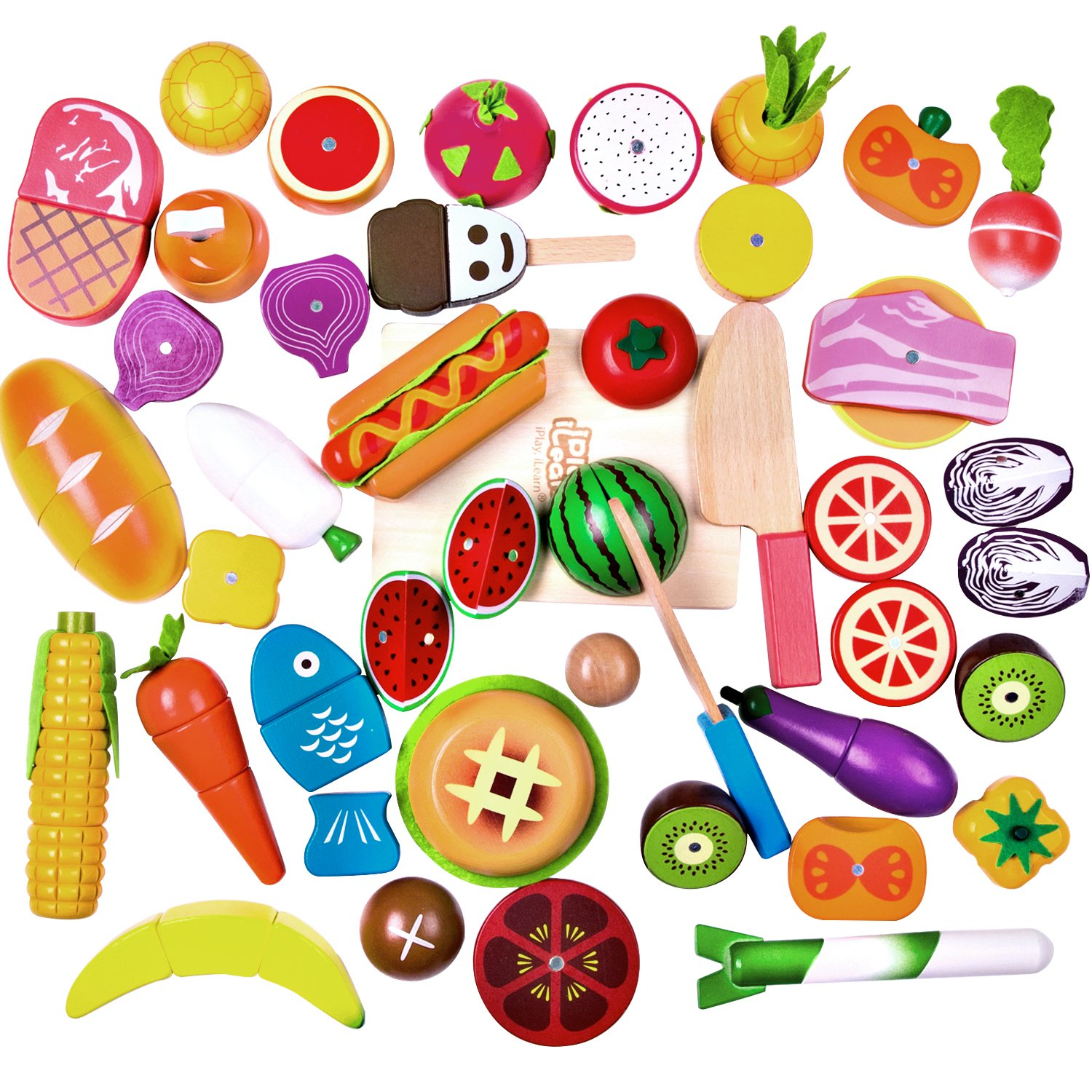 4-5 nutrition toys clipart svg royalty free iPlay, iLearn Cutting & Cooking Toy, Wooden Food, Pretend Play Kitchen Set,  Magnetic Wood Fruit, Early Educational Development, Learning Gift for 2, ... svg royalty free