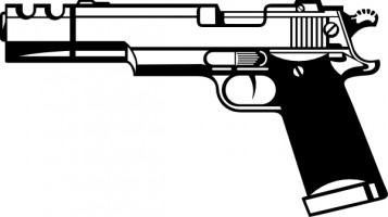 Pistol easy to draw clipart