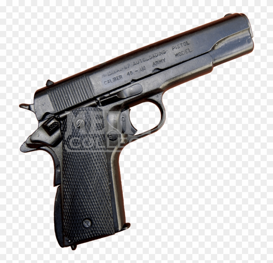 45 pistol clipart svg royalty free stock M1911 45 Caliber Automatic Pistol Black Fd1227 By Medieval - M1911 ... svg royalty free stock