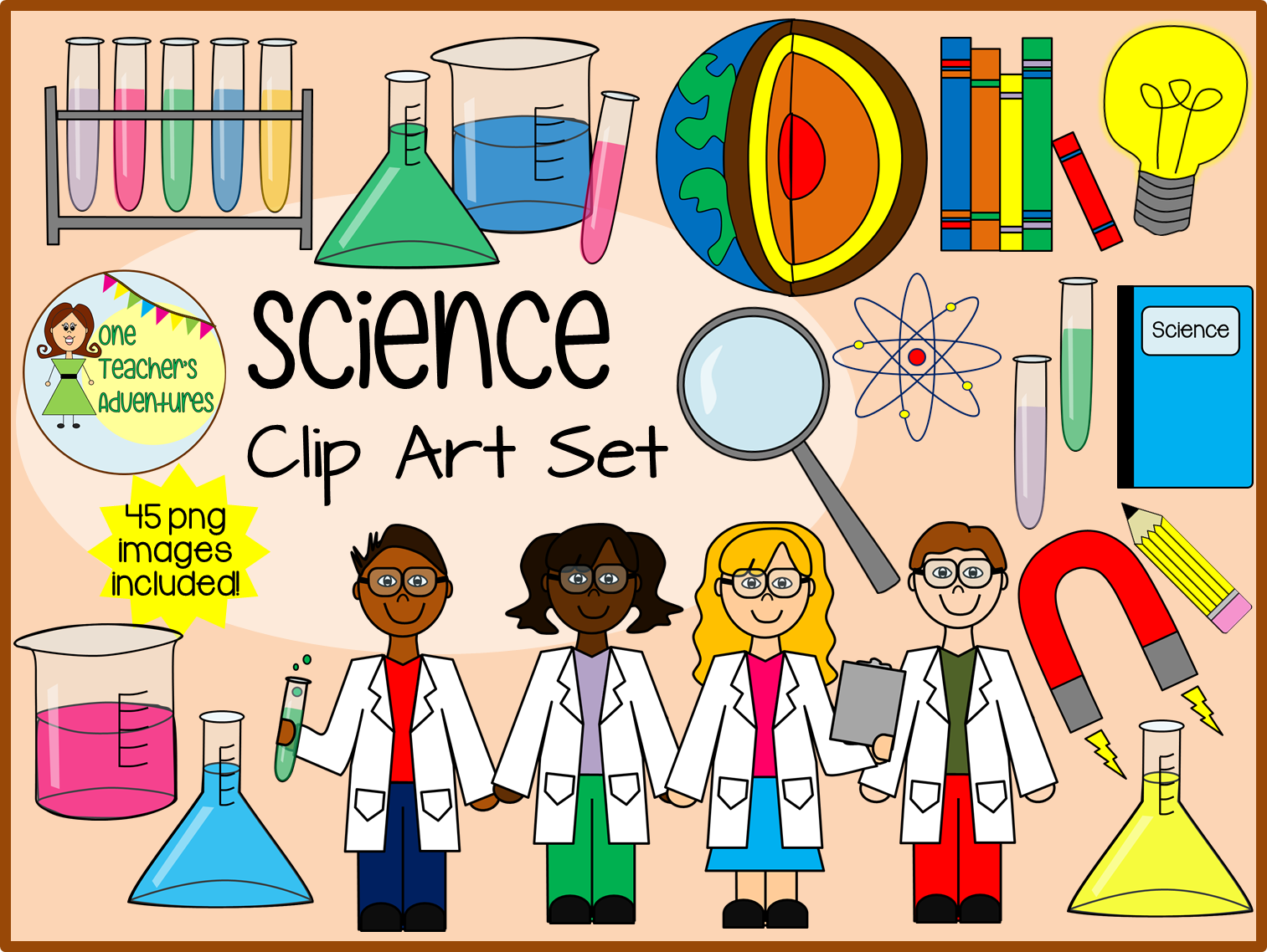 45 s clipart banner transparent library Science Clip Art Set - 45 png images for commercial or personal use ... banner transparent library