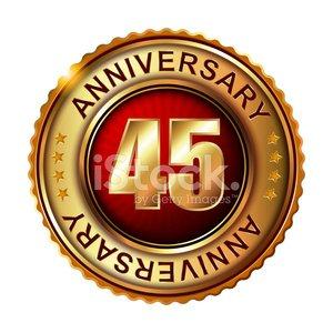 45 years clipart free stock Anniversary Golden Label 45 Years premium clipart - ClipartLogo.com free stock