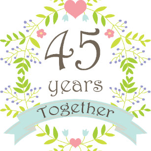 45th anniversary clipart freeuse library Happy 45th Anniversary Couple Gifts on Zazzle AU freeuse library
