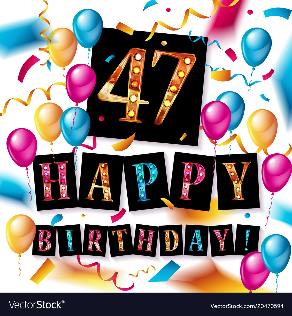 47th anniversary clipart graphic royalty free Happy birthday 47 years anniversary graphic royalty free