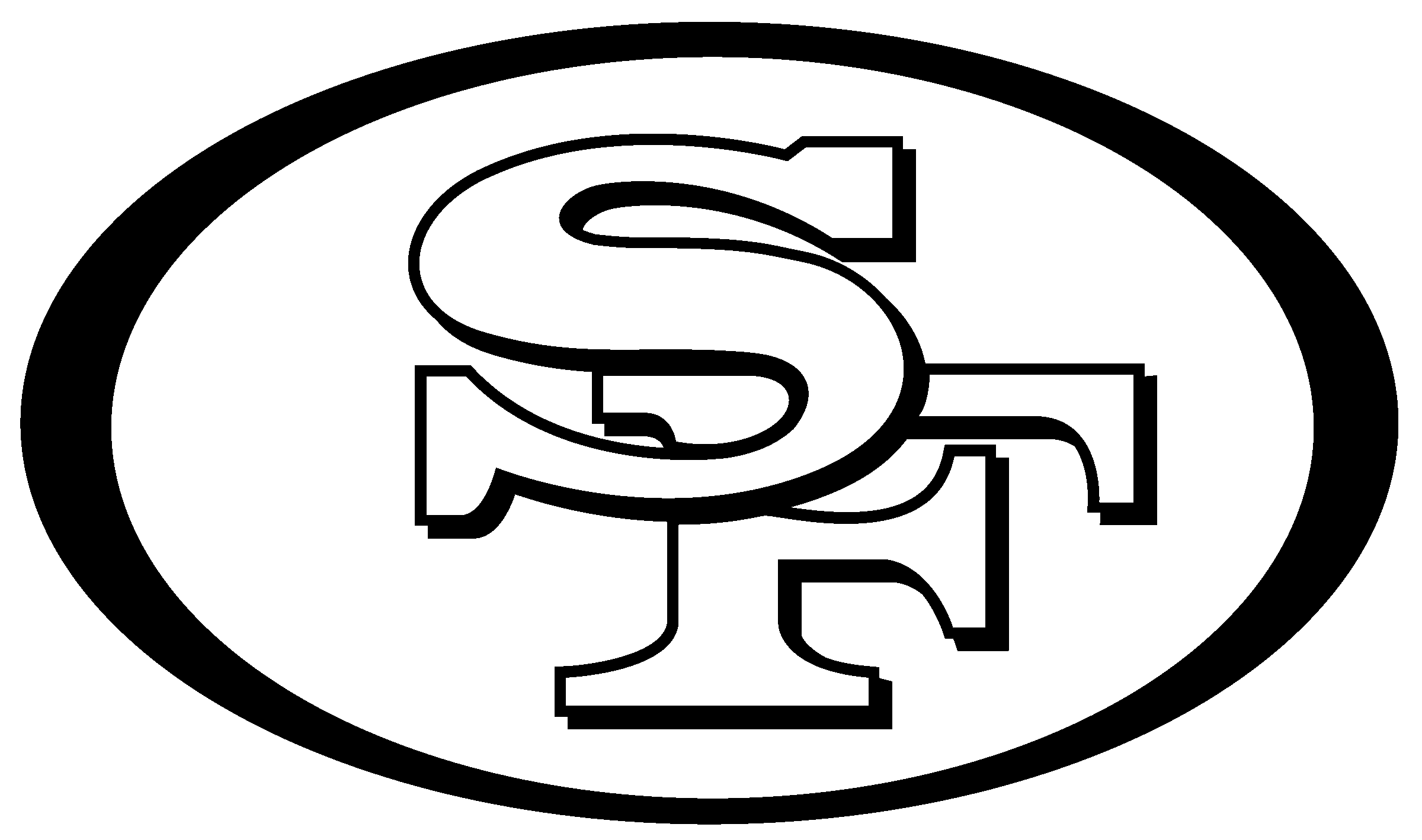 49ers black and white clipart image transparent HD San Francisco 49ers, Nfl, Decal, Black And White, Text - Logos ... image transparent