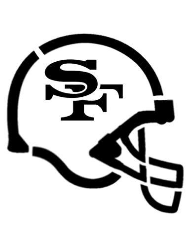 49ers black and white clipart clip art transparent download Amazon.com: Custom Stencil San Francisco 49ers Football Helmet 8.5 x 11 clip art transparent download