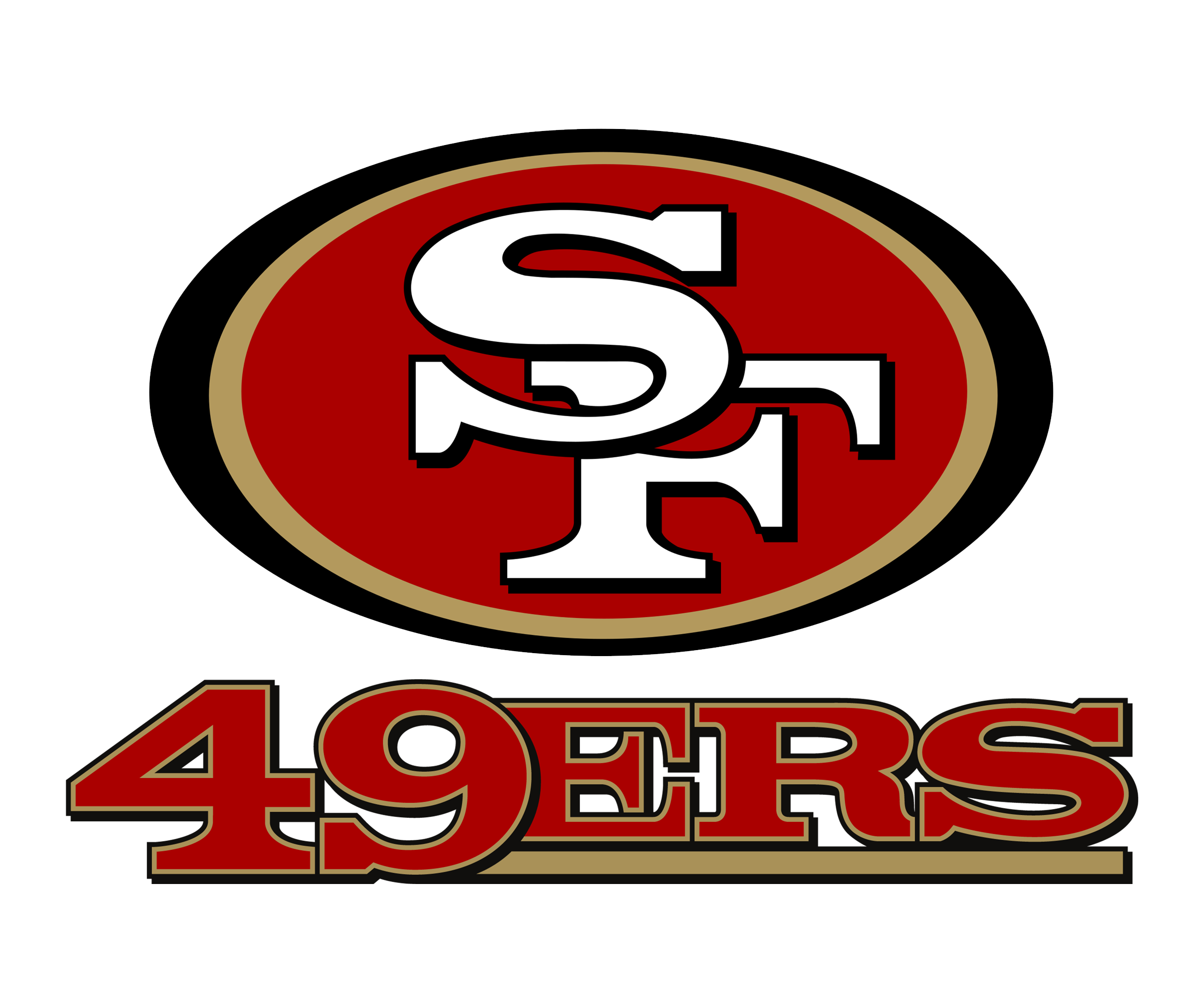 49ers football clipart banner library library San Francisco 49ers Logo PNG Transparent & SVG Vector - Freebie Supply banner library library