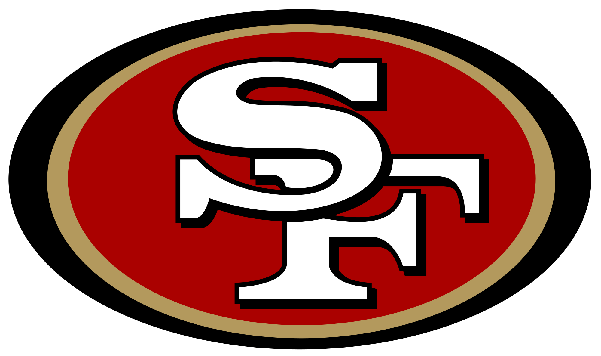 49ers football clipart svg transparent stock San Francisco 49ers Logo transparent PNG - StickPNG svg transparent stock