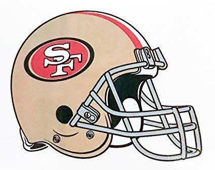 49ers helmet clipart image transparent download Amazon.com: aa g 4 Pack San Francisco 49ers Die Cut Stickers NFL ... image transparent download