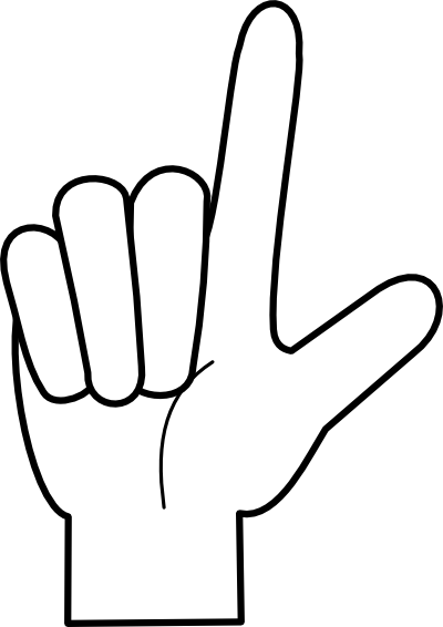 4fingers on hand clipart vector royalty free library Counting Up Cliparts - Cliparts Zone vector royalty free library
