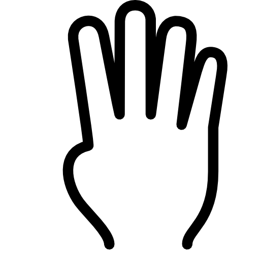 4fingers on hand clipart black and white stock Black finger png image #43107 - Free Icons and PNG Backgrounds black and white stock