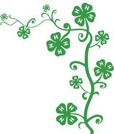 4-h club clipart jpg library 4H clover template   Four Leaf Clover Vector clip art - vector ... jpg library