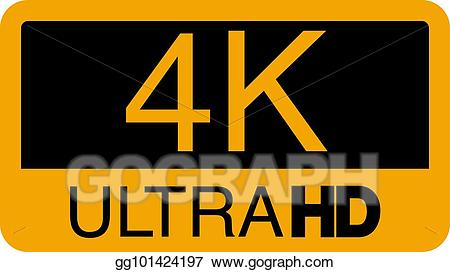 4k logo clipart royalty free download Vector Stock - Logo 4k ultra hd. vector illustration of 4k video ... royalty free download
