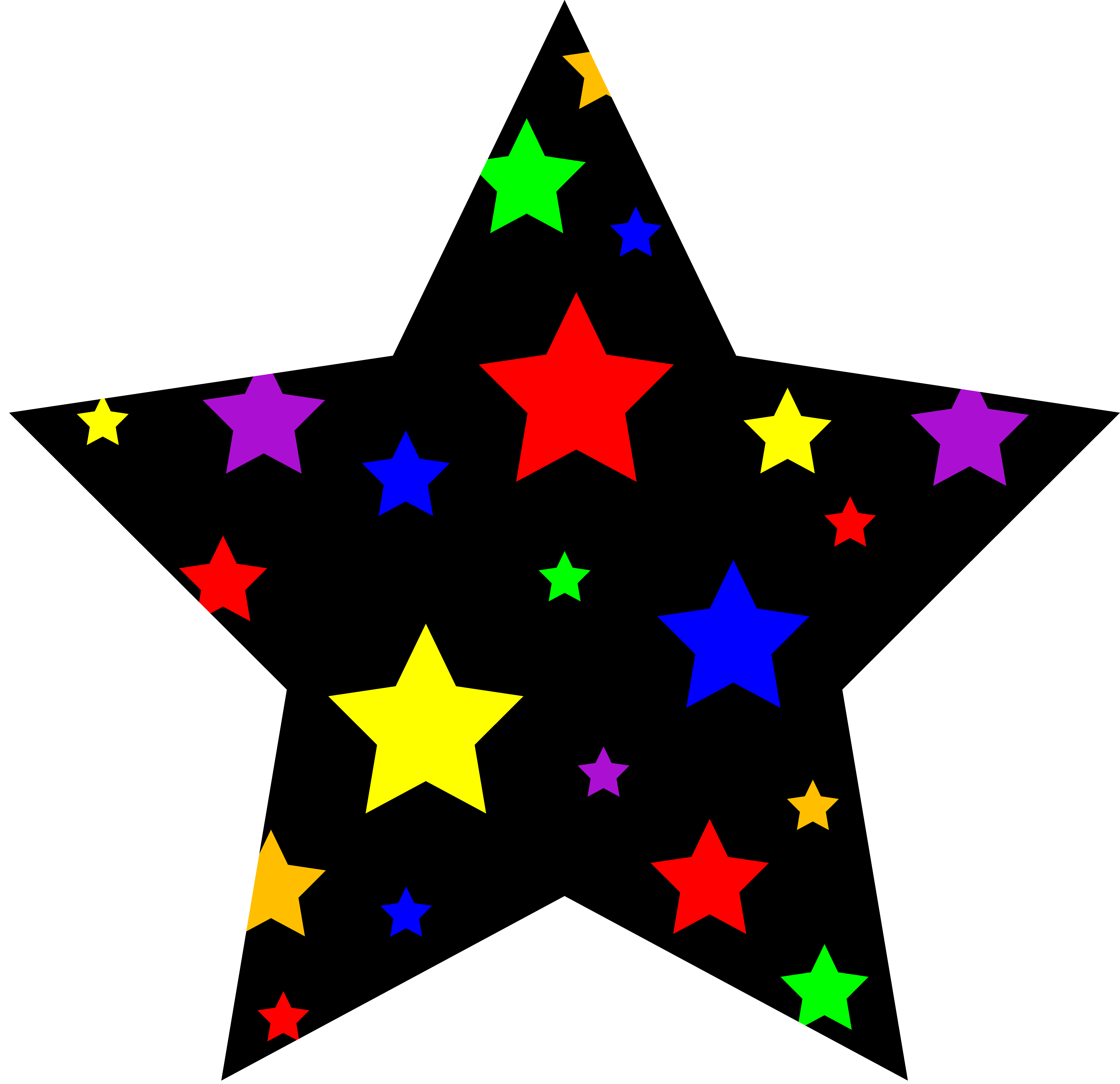 4th day sun moon and stars clipart png black and white library 4th_july_new_year_star_rainbow.png (6598×6383) | Printables ... png black and white library