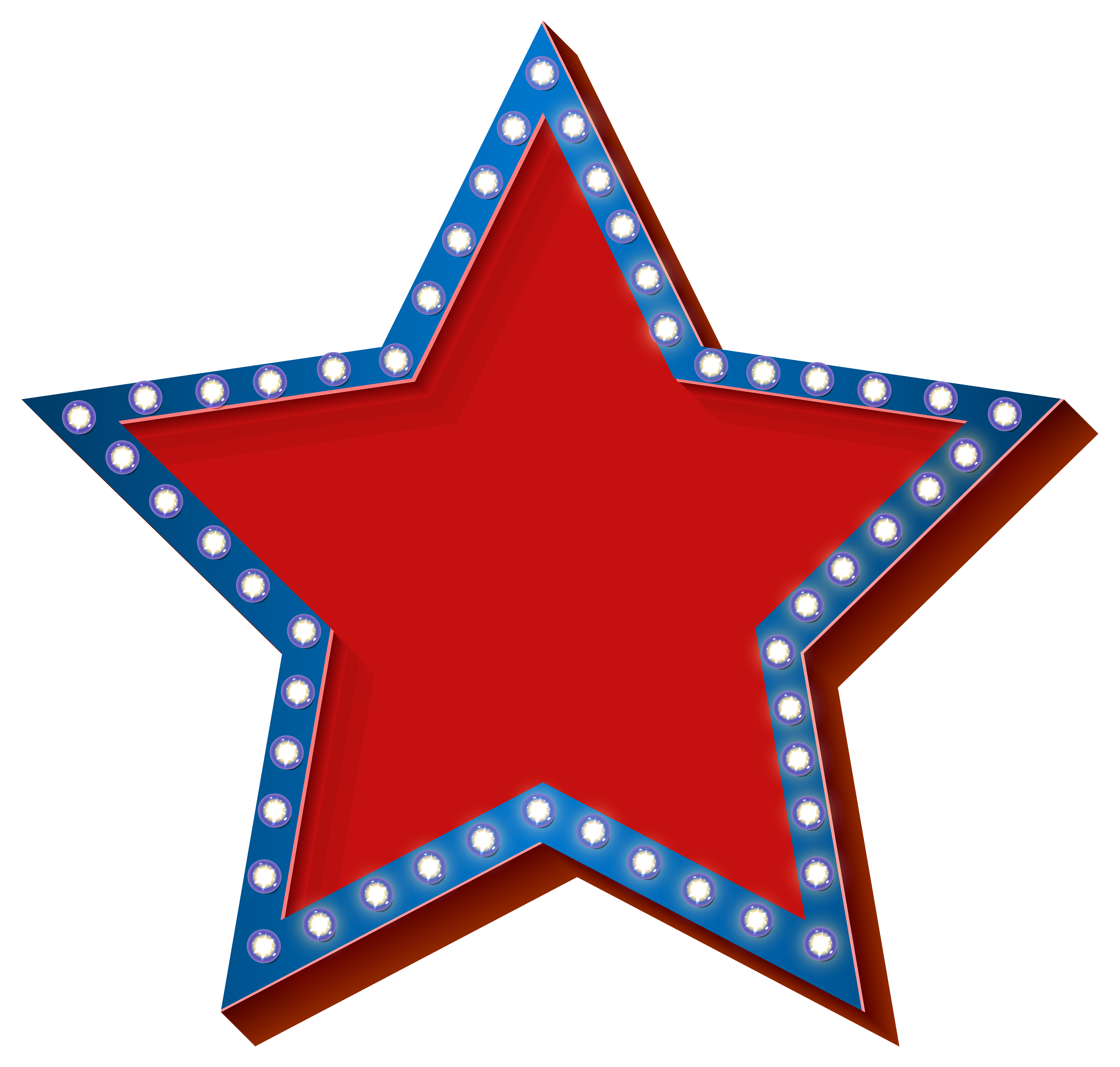 Fourth of july star clipart clip art library stock Star with Lights Transparent PNG Clip Art Image | Starry | Pinterest ... clip art library stock