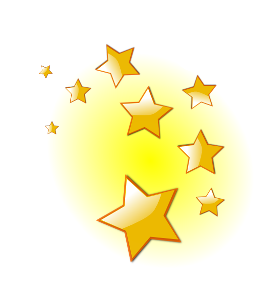 4th day sun moon and stars clipart vector freeuse Stars Clip Art At Clker Com Vector Clip Art Online Royalty Free ... vector freeuse