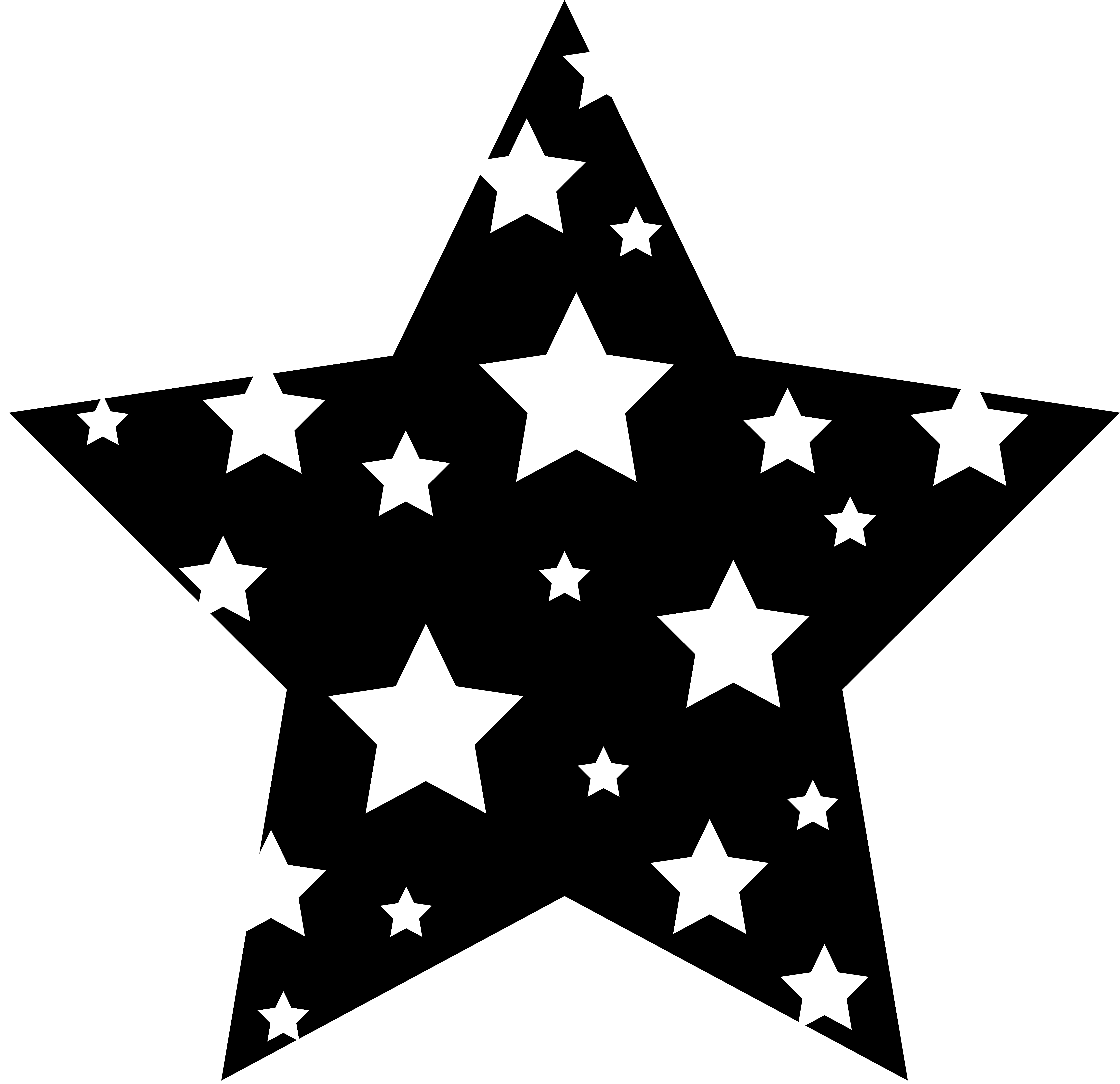 4th day sun moon and stars clipart black and white download Cartoon | Black and White Starry Star - Free Clip Art | Vinyl Ideas ... black and white download