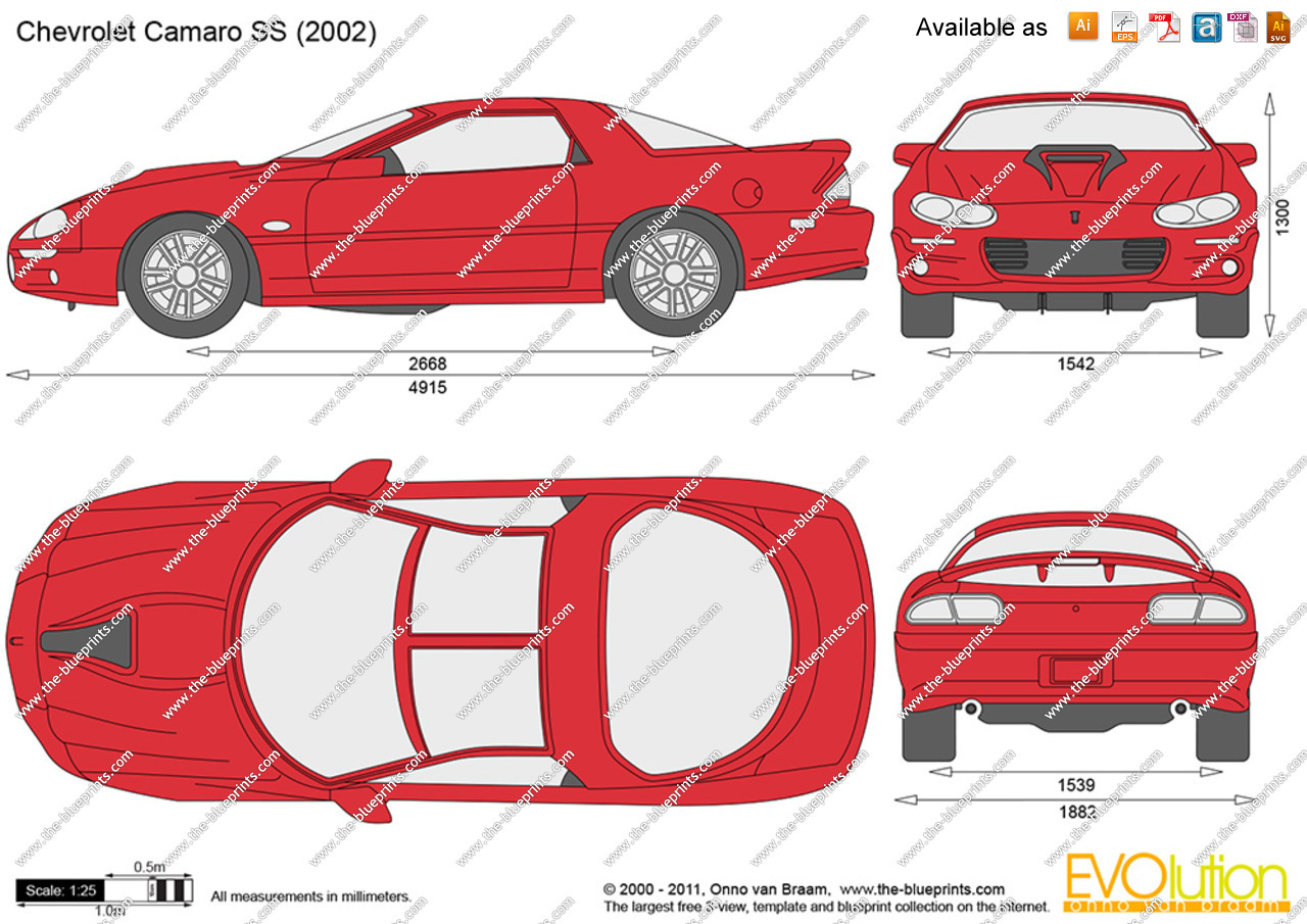 4th gen camaro clipart svg free stock Chevrolet Camaro SS vector drawing svg free stock