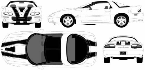 4th gen camaro clipart vector download Blueprints > Cars > Chevrolet > Chevrolet Camaro SS (2002) vector download