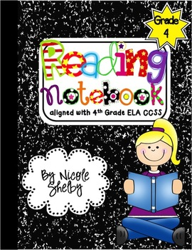 4th grade readng clipart image royalty free stock 4th Grade Interactive Reading Notebook (aligned with Common Core) image royalty free stock