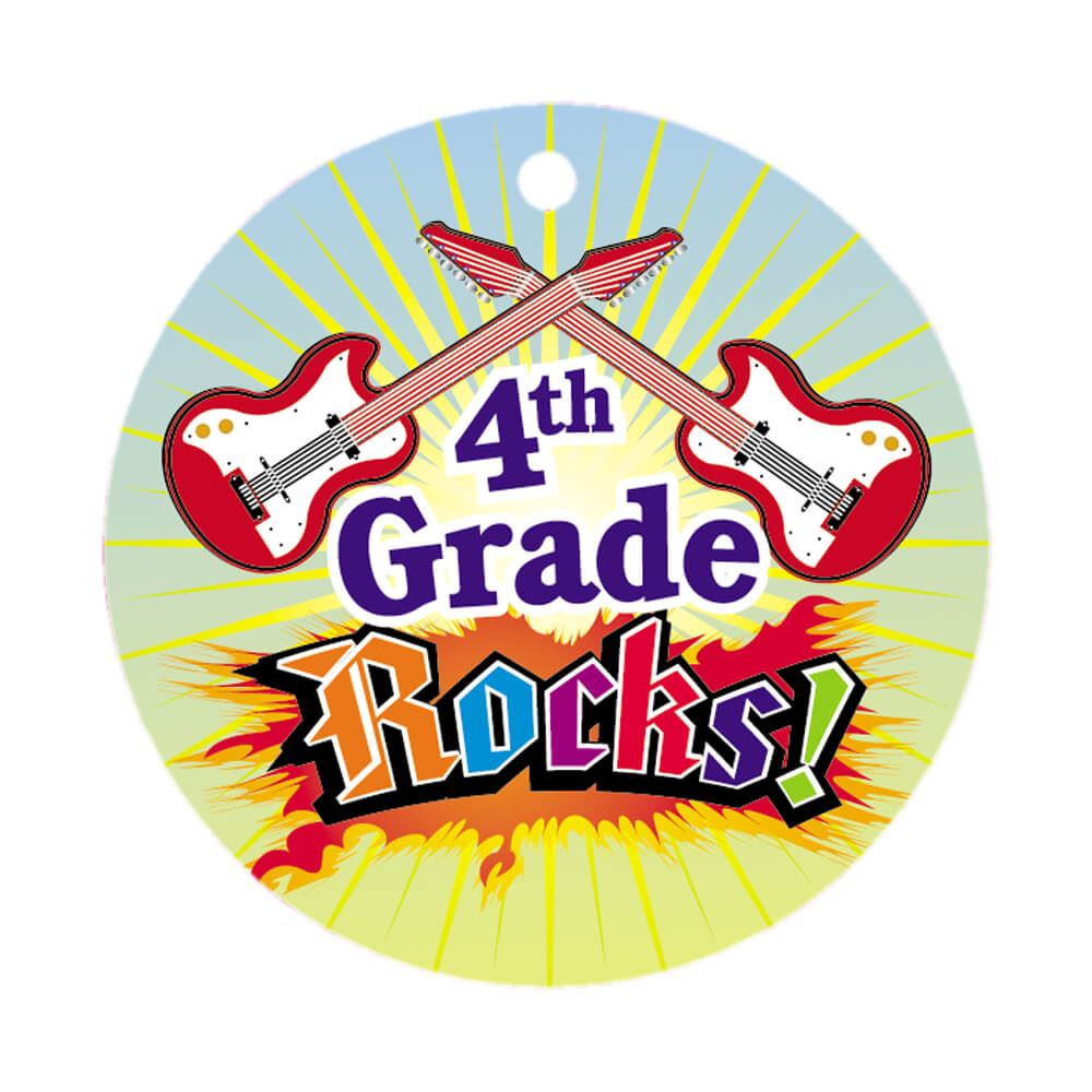 4th grade rocks clipart png library stock 4th Grade Rocks! Round-Shaped Award Tag With 24\