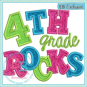 4th grade rocks clipart vector download Fourth Grade Rocks 2 Applique vector download