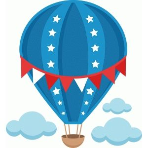 4th of july clipart hot air balloon