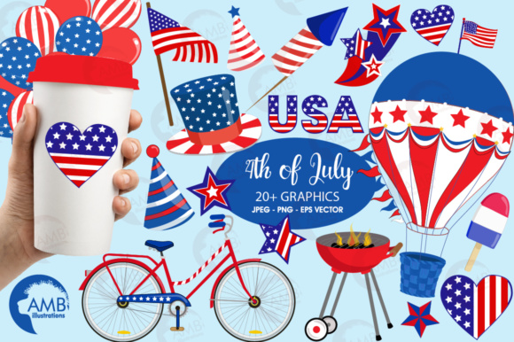 4th of july clipart hot air balloon svg free library 4th Of July Clipart svg free library