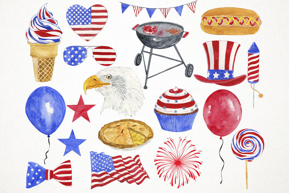 4th of july clipart watercolor clip art free download Watercolor 4th of July Clipart, 4th of July Clip Art, Independence ... clip art free download