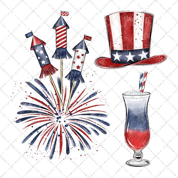 4th of july clipart watercolor picture library Independance Day Watercolor Clipart, 4th Of July Clipart, America ... picture library