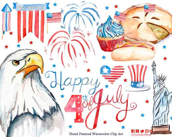 4th of july clipart watercolor picture transparent stock 4th of July Clipart, July 4th Clipart, Fourth of July Digital Paper ... picture transparent stock