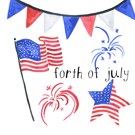 4th of july clipart watercolor png free Watercolor forth of July Americana clip art american clipart 4th of ... png free