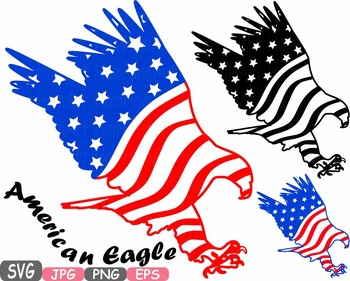 Clipart american flag eagle vector transparent download American flag svg Eagle Eagles independence day 4th of July Clipart birds  -472s vector transparent download