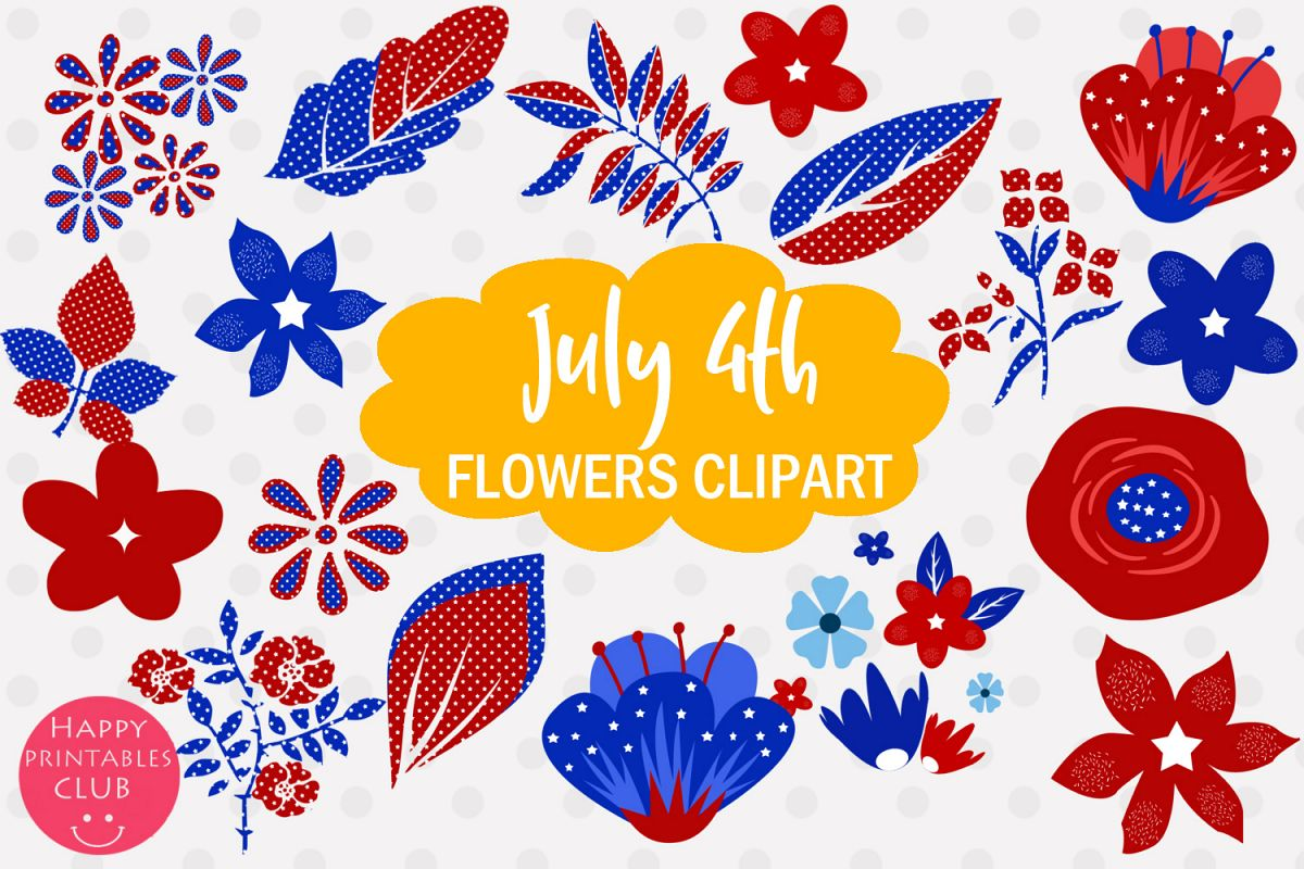 July flower clipart picture royalty free stock 4th July Flowers Clipart- July 4 Flowers Graphics Clipart picture royalty free stock