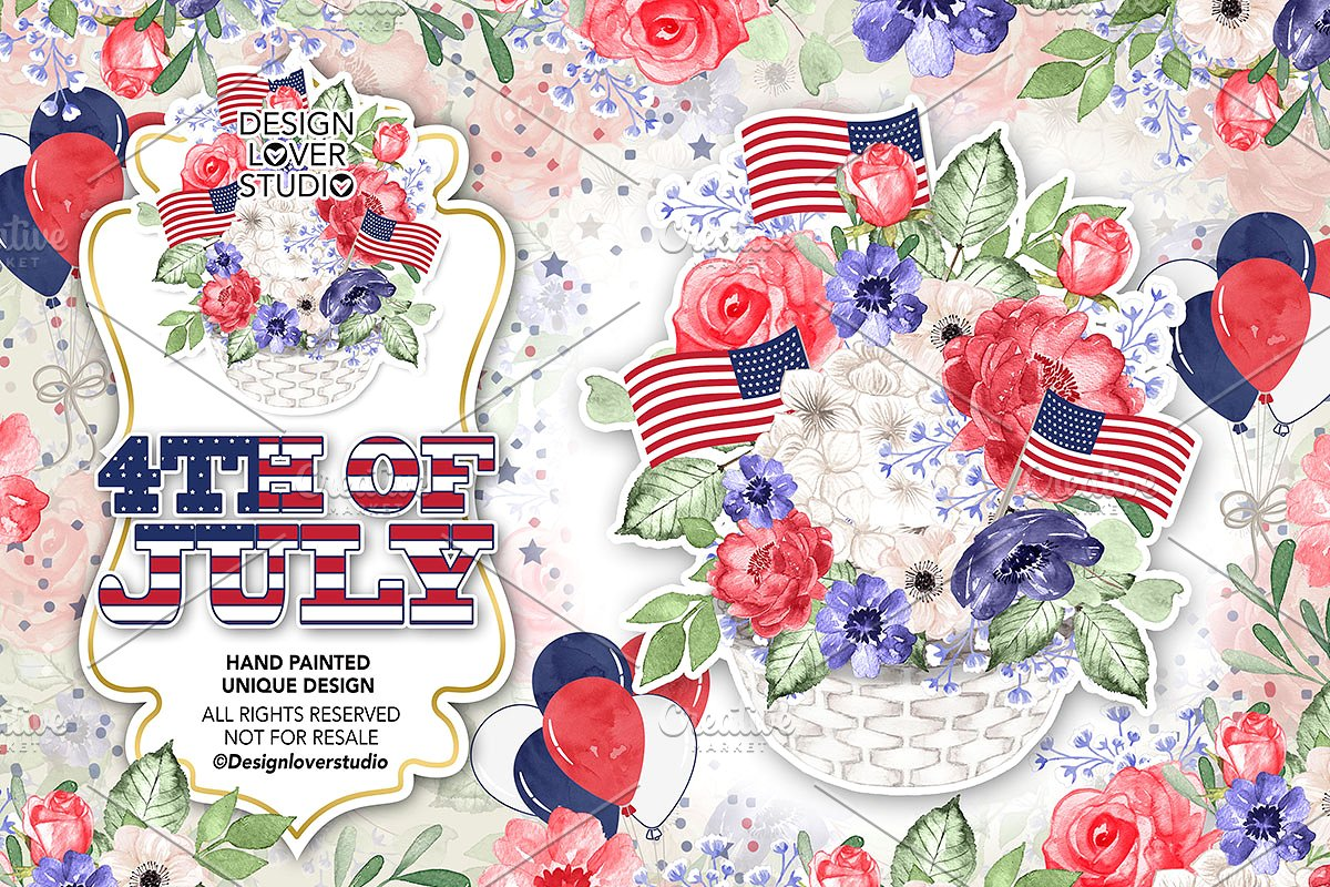 United states clipart watercolor png black and white library 4th of July design png black and white library