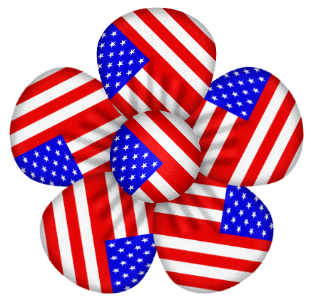 Baby fourth of july clipart picture library library USA Flag Flower Decor PNG Clipart | Gallery Yopriceville - High ... picture library library